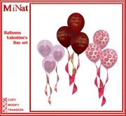 Valentine's Day set balloons