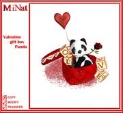 MiNat Valentine gift box Panda