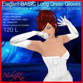 Elegant Basic Long Dress Gloves