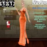 """Giada"" Orange Gown  - Fashion Dream"