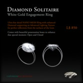 Diamond Solitaire - Brilliant cut - WhiteGold -NANO Dble ALT