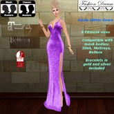 """""""Giada"""" Purple Gown  - Fashion Dream"""