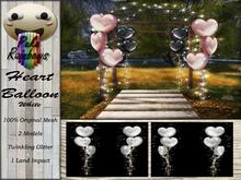[PR] Heart Balloons - White (Boxed)