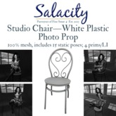 Salacity - Studio Chair photo prop - white plastic