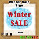 "Sign ""Winter Sale"""