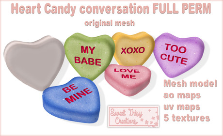 *Sweet Trisy Creations* Mesh full perm Heart candy conversation