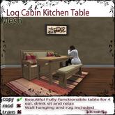@Incendia Log Cabin Kitchen Table