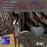Porcelain Heart Vase Gives long stem rose animates your avatar (bag)