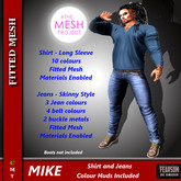 [F] Mike Shirt & Jeans - TMP - Hud Included