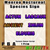 """Meeroo Species Sign """"Nocturnal"""""""