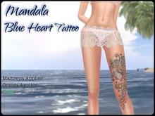 :::.. Mandala Blue Heart...:::       Leg Tattoo Maitreya and Omega Appliers