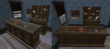 counter, keyrack, mailbox cabinet