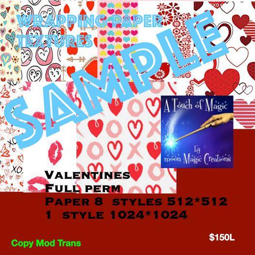 Full perm Valentine Paper textures (box)