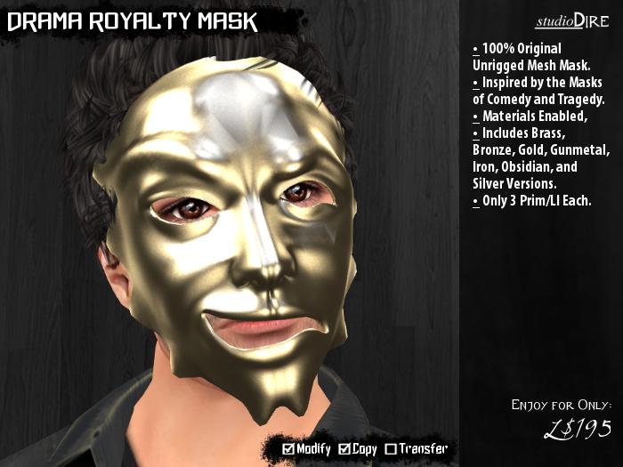 /studioDire/ Drama Royalty Mask