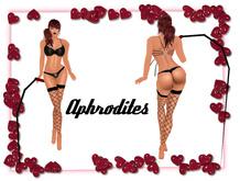 Aphrodites - Black Leather Lingerie & Whip