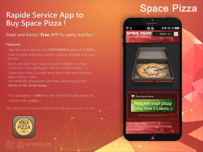 [FREE] Space Pizza Service (N.PHONE APP) [NeurolaB Inc.]