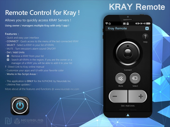 [FREE] KRAY Remote (N.PHONE APP) [NeurolaB Inc.]