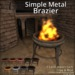 Simple metal brazier