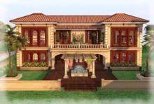 Villa Barcelona Mansion Part Mesh