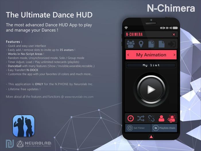 N-CHIMERA [Next Gen Advanced Dance HUD] (N.PHONE APP) [NeurolaB Inc.]