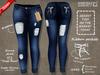 ::MA:: EMMA Ripped Ribbon Jeans - Maitreya, Slink, Belleza - 2.DEEP BLUE