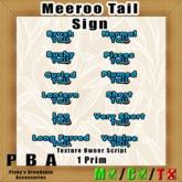 Meeroo Tail Sign Vers. 1