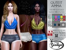 GIMBYA:  Outfit Amma Top 10 Textures Short 3 colors