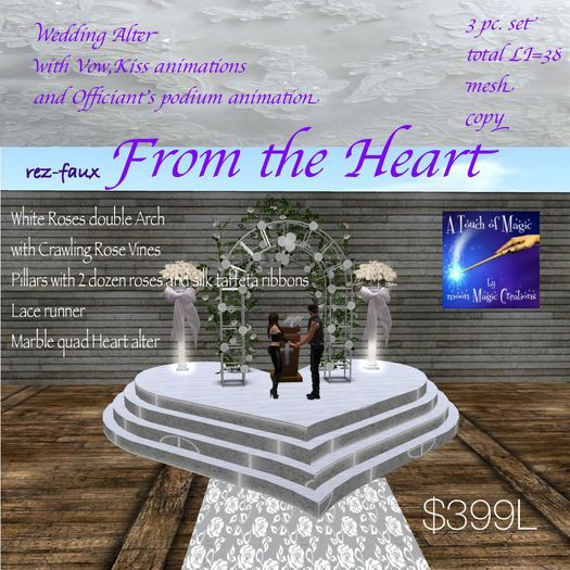 From the Heart Wedding Alter scene(crate)