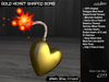 /studioDire/ Gold Heart Shaped Bomb