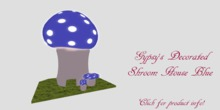 Decorative Shroom House Blue
