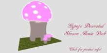 Decorative Shroom House Pink
