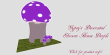 Decorative Shroom House Purple