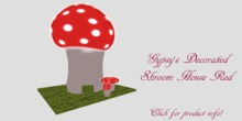 Decorative Shroom House Red