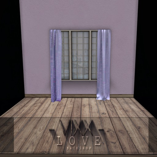 -VIXX- Mesh backdrop - LOVE