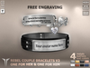 **RE** Rebel Couple Bracelets V3 Engravable (FREE ENGRAVING) * MESH * (*Rebel Collection*)