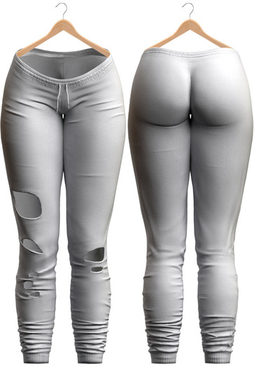 Blueberry - Minerva Joggers - Maitreya, Belleza (All), Slink Physique Hourglass - ( Mesh ) - White