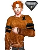 XK Pullover Sweater Orange
