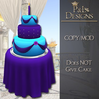 Astounding Second Life Marketplace Pl Birthday Cake Blue Pink And Personalised Birthday Cards Arneslily Jamesorg