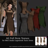 AG Full Perm Texture Lagenlook Tunic Dress - All Colors