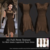 AG Full Perm Texture MI Lagenlook Tunic Dress - Brown