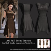 AG Full Perm Texture MI Lagenlook Tunic Dress - Gray