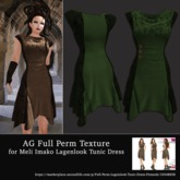 AG Full Perm Texture MI Lagenlook Tunic Dress - Green