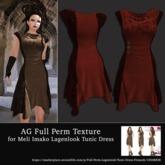 AG Full Perm Texture MI Lagenlook Tunic Dress - Red