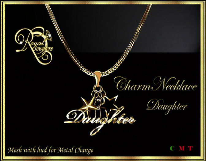 RJ Charm Mesh Necklace - Daughter