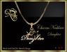 RJ Charm Necklace - Daughter (Boxed)