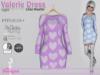 Valerie Dress Light Lilac Hearts