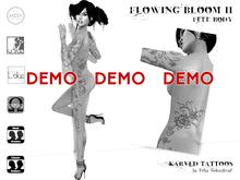 KARVED Flowing Bloom II Full Body Tattoo + Appliers DEMO