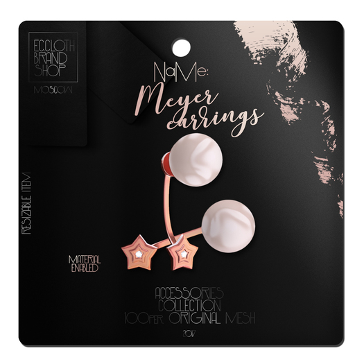 Ec.cloth -  Meyer Earrings - Rose Gold