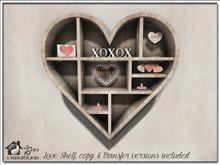 Love Shelf, copy & transfer versions included