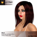 A&A JJ Hair Mahogany, medium length straight mesh materials low display weight style